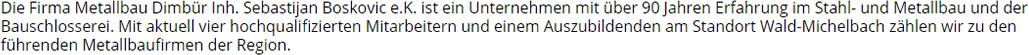 Bauschlosserei aus 63867 Johannesberg, Hösbach, Kleinostheim, Aschaffenburg, Mainaschaff, Krombach, Blankenbach oder Glattbach, Goldbach, Mömbris