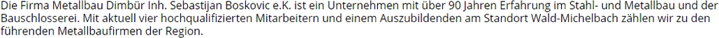 Bauschlosserei für  Dackenheim, Herxheim (Berg), Bissersheim, Kirchheim (Weinstraße), Freinsheim, Bobenheim (Berg), Weisenheim (Berg) oder Kleinkarlbach, Kallstadt, Großkarlbach