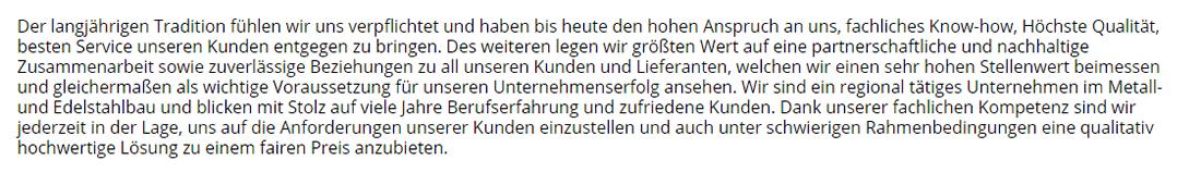 Edelstahlbau für 63825 Blankenbach